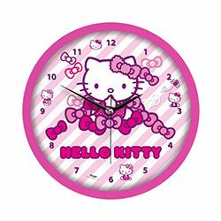 Hello Kitty Lisanslı Çocuk Odası Duvar Saati - 29.5x29.5 cm