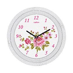 Cadran Çiçekler - 3 Çatlak Desen Dekoratif Vintage Duvar Saati