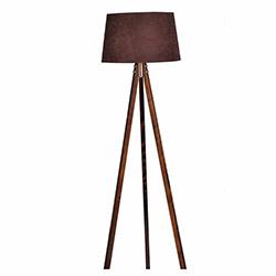 Ege Light 3 Ayaklı Lambader - Ceviz / Kahverengi