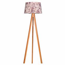 Ege Light 3 Ayaklı Lambader - Naturel / Kahverengi Çiçek