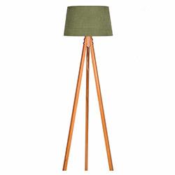 Ege Light 3 Ayaklı Lambader - Naturel / Koyu Yeşil