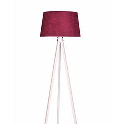 Ege Light 3 Ayaklı Lambader - Beyaz / Kırmızı