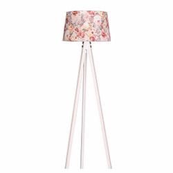 Ege Light 3 Ayaklı Lambader - Beyaz / Pembe Çiçek