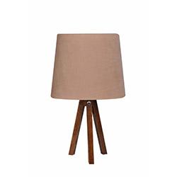 Ege Light 3 Ayaklı Masa Lambası - Ceviz / Açık Kahverengi
