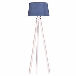 Ege Light 3 Ayaklı Lambader - Beyaz / Mavi