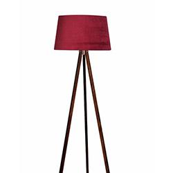 Ege Light 3 Ayaklı Lambader - Ceviz / Kırmızı