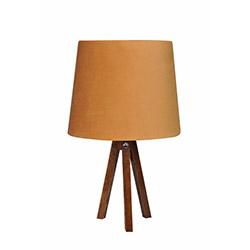 Ege Light 3 Ayaklı Masa Lambası - Ceviz / Hardal