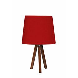 Ege Light 3 Ayaklı Masa Lambası - Ceviz / Kırmızı