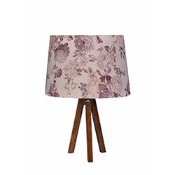 Ege Light 3 Ayaklı Masa Lambası - Ceviz / Kahverengi Çiçek
