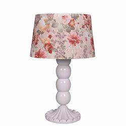 Ege Light Christine Masa Lambası - Beyaz / Pembe Çiçek