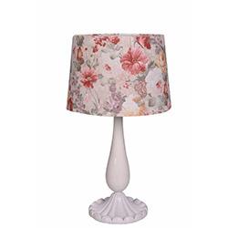 Ege Light Valentine Masa Lambası - Beyaz / Pembe Çiçek
