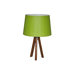 Ege Light 3 Ayaklı Masa Lambası - Ceviz / Açık Yeşil