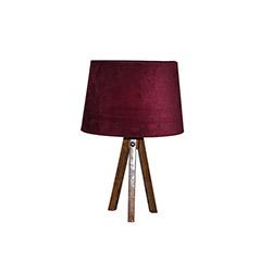 Ege Light 3 Ayaklı Masa Lambası - Ceviz / Bordo
