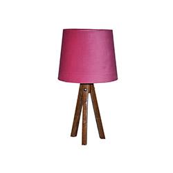 Ege Light 3 Ayaklı Masa Lambası - Ceviz / Fuşya