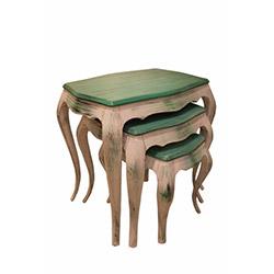A2 Decor Green Zigon Sehpa