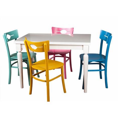 A2 Decor Modern Masa Takımı - Beyaz / Renkli