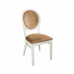 House Line Madalyon Sandalye - Kahverengi / Beyaz