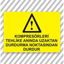 Supersticx UYK277 Uyarı ve İkaz Sticker - 30x40 cm