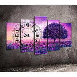 Canvastime TMG78 Canvas Tablo Saat - 5 Parçalı