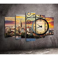 Canvastime TMG123 Canvas Tablo Saat - 5 Parçalı