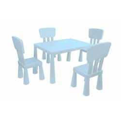 Modüler Mini Çocuk Masa Sandalye Seti - Mavi
