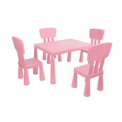 Modüler Mini Çocuk Masa Sandalye Seti - Pembe