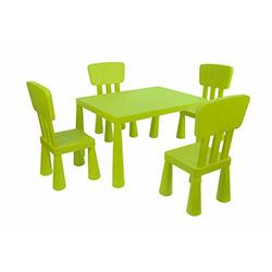 Modüler Mini Çocuk Masa Sandalye Seti - Yeşil