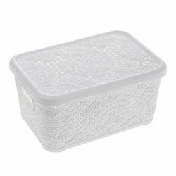 Modelüks Oya Desenli Çok Amaçlı Sepet (Beyaz) - 2.5 Litre