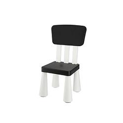 Modüler Mini Sandalye - Siyah / Beyaz
