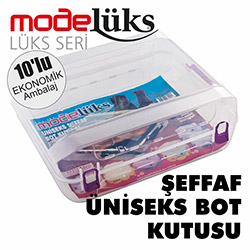 Modelüks Lüx 10'lu Şeffaf Bot Kutusu