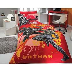 Hobby Ranforce Tek Kişilik Lisanslı Nevresim Takımı Batman Kırmızı