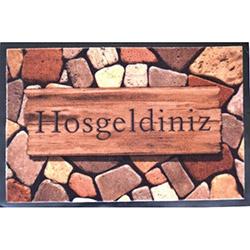 Giz Home Gız46 Print Mat Paspas - 40x60 cm