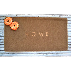 Giz Home TERİ407501 Kapı Önü Paspası - 40x75 cm