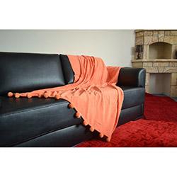 Giz Home Carmel Ponponlu Koltuk Örtüsü - Turuncu