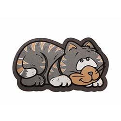 Giz (40x68 cm) İtalyan Sempatik Kedi Şekilli Paspas