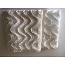 Brisa Dalgalı Koltuk Şalı 127x153 cm- Beyaz