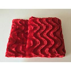 Brisa Dalgalı Koltuk Şalı 127x154 cm - Kırmızı