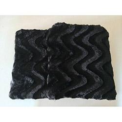Brisa Dalgalı Koltuk Şalı 127x157 cm- Siyah