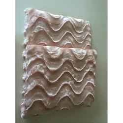 Brisa Dalgalı Koltuk Şalı 127x157 cm- Pudra Pembe