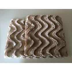 Brisa Dalgalı Koltuk Şalı 150x200 cm -Bal Köpüğü