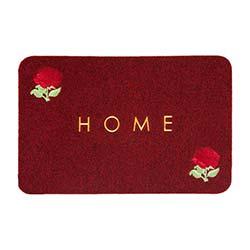 Giz Home Brode Gül Paspas (Kırmızı) - 40x60 cm