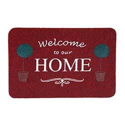 Giz Home Megan Saksı Paspas (Kırmızı) - 40x75 cm