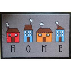Giz Home Print Mat Home Kapı Önü Paspası - 40x60 cm