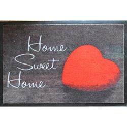 Giz Home Print Mat Home Sweet Home Kalp Kapı Önü Paspası - 40x60 cm