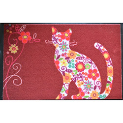 Giz Home Print Mat Color Cat Kapı Önü Paspası - 40x60 cm