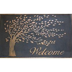 Giz Home Metalic Hoşgeldin Ağacı Kapı Önü Paspası - 45x75 cm