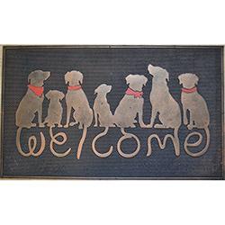 Giz Home Metalic Köpekler Kapı Önü Paspası - 45x75 cm