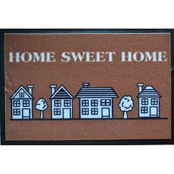 Giz Home Print Mat Evler Çiçekler Kapı Önü Paspası - 40x60 cm
