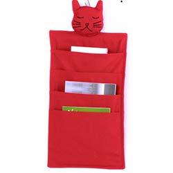 Kedi Figürlü Dolap Düzenleyici - Kırmızı