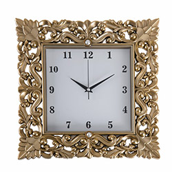 Secret PLS035A Dekoratif Saat (Altın) - 35x35 cm